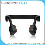 Écouteur stéréo d'ordinateur de Bluetooth de conduction osseuse sans fil noire de mode