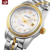 OEMの卸し売りステンレス鋼の女性の水晶腕時計