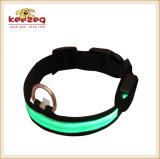 Colares de nylon recarregáveis do cão de animal de estimação do diodo emissor de luz/mais cores (KC0086)