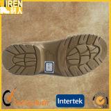 Ботинки пустыни ботинка безопасности Mens верхнего качества кожи коровы замши бежевые воинские