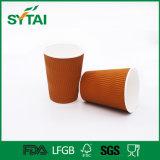 10oz de Beschikbare Koffie Geïsoleerdeo Kop van uitstekende kwaliteit van het Document van de Rimpeling