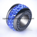 Venda em massa de jóias de grânulos de pedras preciosas de aço inoxidável