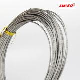 Câble métallique d'acier inoxydable de la pente 304/316 de qualité