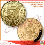 Pièces de monnaie en alliage de zinc faites sur commande d'enjeu avec de l'or plaqué pour la promotion