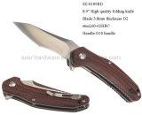 8,9 haute qualité en acier pour outil D2 le couteau avec la poignée (G10 se-0109RD)
