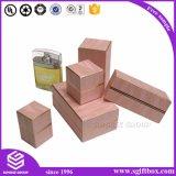 Embalagens de papel colorido Costom caixa quadrada de perfume de impressão