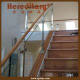 Столб загородки нержавеющей стали стеклянный для Railing лестницы стеклянного (SJ-H5064)