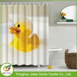 Водоустойчивой ванная комната полиэфира напечатанная уткой ягнится занавес ливня