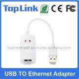 Heißer verkaufenUSB 2.0 Bekehrt-Netz LAN-dem Adapter zu des Ethernet-RJ45 für gesetzten Spitzenkasten