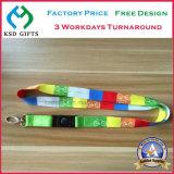 Alta calidad hebilla de plástico y metal clip colorante Sub / sublimación Lanyard