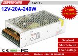 12V 20A 250Wの通信保全監査の切換えの電源
