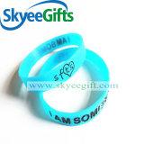 Lampeggiamento luminoso d'ardore del braccialetto del Wristband del silicone