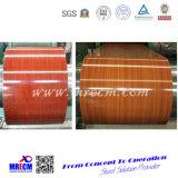 Bobine en acier galvanisée de configuration en bois avec la qualité grande