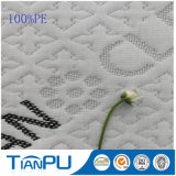 Hangzhou para la tela que hace tictac hecha punto poliester del colchón del colchón del látex