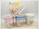 Superficie del fiore tazza di ceramica del latte dalle 13 once, tazza di caffè, tazza del tè