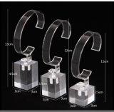 Blocos acrílicos transparentes de cristal do sólido do cubo do indicador do relógio