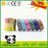 Heißer Verkauf entfernt gute anhaftende Papercraft Vertikale dekoratives Washi Band des Muster-DIY für das kundenspezifische Tapeten-Geschenk-Kasten-Verpacken
