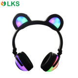 Écouteur rougeoyant d'oreilles de panda de lumières de batterie sans fil de Chargable