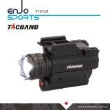 Lanterna elétrica tática do diodo emissor de luz com o ponteiro vermelho da vista do laser para a arma