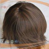 Les hommes d'injection vierge européen de la perruque de cheveux Toupee (PPG-L-0933)