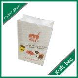 Riciclare il sacchetto bianco della carta kraft Per alimento