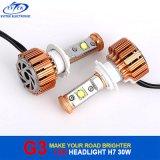 Farol leve 6000k do diodo emissor de luz do CREE do diodo emissor de luz 30W 3000lm H7 H1 H3 9005 do automóvel (HB3)