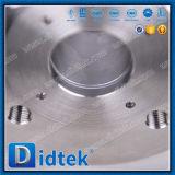 Vávula de bola neumática de la oblea de la chaqueta del aislante de calor de Didtek para el vapor