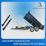 Het ineenschuiven van Hydraulische Cilinder voor de Aanhangwagen van de Stortplaats