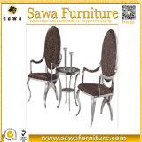 革ホテルの宴会の食堂のローズの金のステンレス鋼の椅子