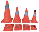 Conse de circulation rétractable élastique / Cone de circulation rabattable / Cone de circulation pliable