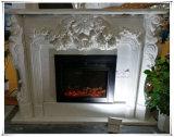 A chaminé barata cultivada das cornijas de lareira da chaminé cerca portas da chaminé com mármore natural
