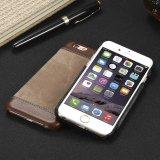 Tendre le rétro cas ultra-mince en cuir de couverture arrière d'unité centrale pour l'iPhone