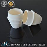 Crisoles de cerámica del alto alúmina del material refractario el 99% para la calefacción
