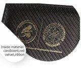 Casella di moneta di legno della retro della copertura superiore di doratura di struttura fibra del carbonio