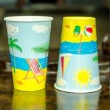 두 배 PE 처분할 수 있는 찬 음료 종이컵 관례에 의하여 인쇄되는 종이컵