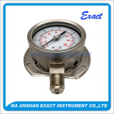 Al de manometer-Olie van het Roestvrij staal manometer-Bourdon Manometer van de Buis