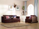 Sofà della mobilia del salone con l'insieme moderno del sofà del cuoio genuino