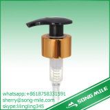 Pompa di plastica nera della lozione di Alumium Colar dell'oro per sciampo