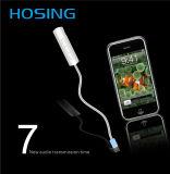 8 pinos para 3,5 mm Jack Aux Audio Cable para iPhone 7 Adaptador de fone de ouvido