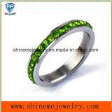 De Ring van de Vinger van het Roestvrij staal van de Stenen van de Kleur van de Juwelen van Shineme (CZR2574)