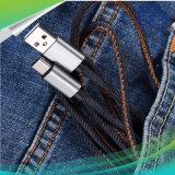 Schnelles aufladenusb-aufladendattel-Kabel für iPhone androiden Typen c-Verbinder mit lederne Brücke-Jeans-Art