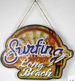 Piastra praticante il surfing della decorazione della parete di stampa del metallo di disegno della Long Beach