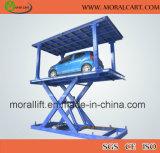 Double levage de plate-forme de véhicule de paquet avec le modèle de ciseaux