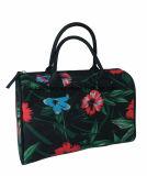 Il fiore stampa la borsa delle donne di bellezza ricoperte poliestere