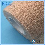 Bandage imperméable à l'eau de coton de latex de qualité d'enveloppe cohésive auto-adhésive libre de bandage pour le soin d'animal familier de sports