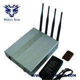 El poder ajustar el control remoto GSM 3G 4G Mobile Phone Jammer señal (60 metros)