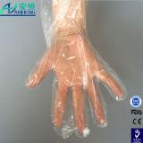 Alimento di disinfezione che prepara i guanti a gettare trasparenti del PE di pulizia