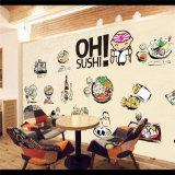 Carta da parati autoadesiva a buon mercato impermeabile del murale dei ristoranti giapponesi della decorazione