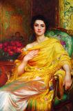 Retrato clássica pintura a óleo