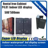 Grande LED esterno TV che fa pubblicità allo schermo di visualizzazione nero del LED della lampada P6 dello schermo